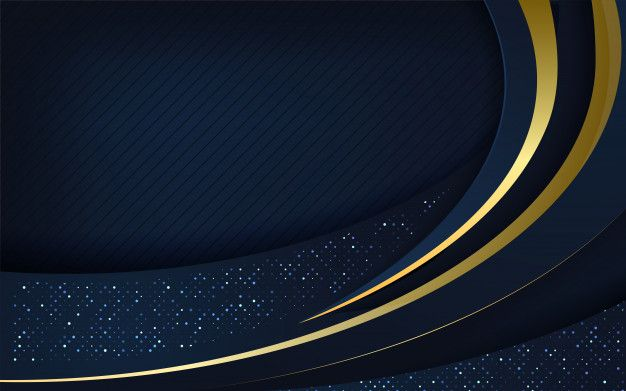 Dark Blue Overlap Layers With Gold Glitters Background Gold