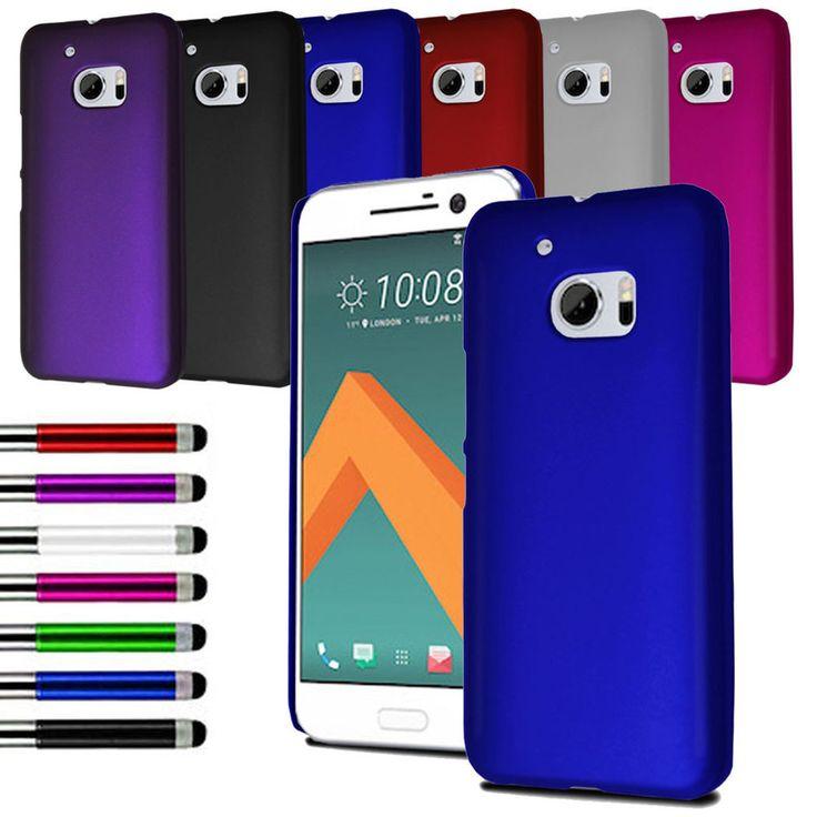 For Various HTC Phone Slim Hybrid Hard Case Back Cover + Film + Retractable Pen