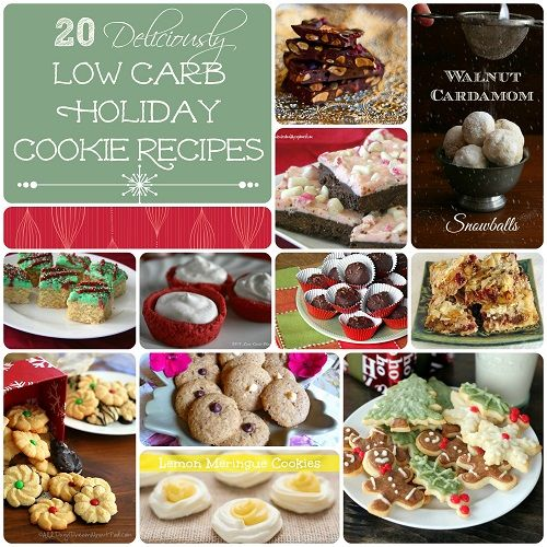 20 Delicious Low Carb Gluten-Free Holiday Cookie Recipes | All Day I Dream About Food