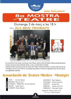 """(02 i 03.03.13) VIII Mostra de Teatre: """"Els ben trobats"""" amb la Cia Penjats pel Teatre, Torroella de Montgrí i l'Estartit"""