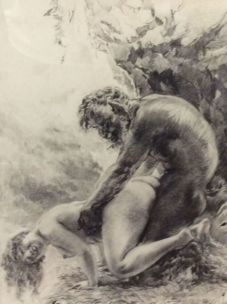 Erotic illustration vintage