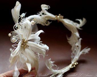 VENDITA-stelle marine e Seashell Bridal copricapo sposa di LAmei