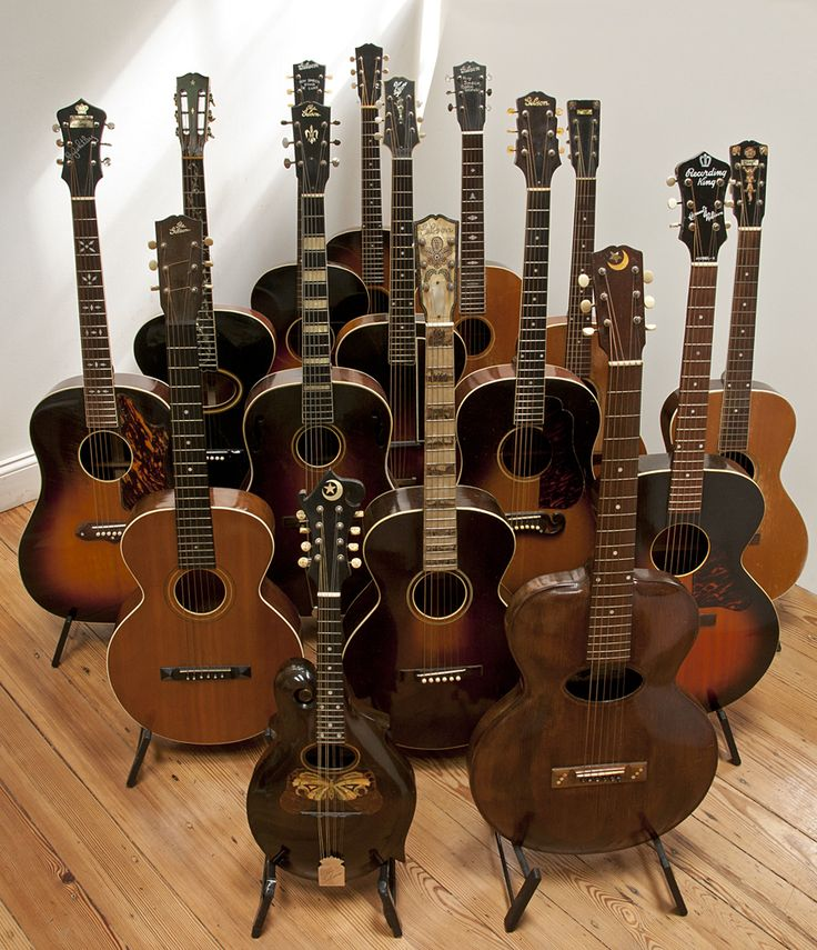 Vintage Gibson Acoustics.  I love the sound of an acoustic & classical guitar, especially vintage guitars.