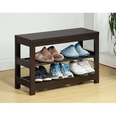 Sintechno Inc Contemporary 3-Tier Shoe Rack
