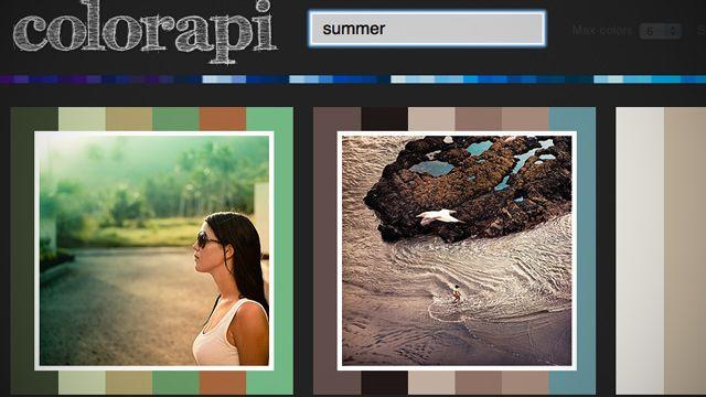 検索した単語のイメージに合った配色パターンを教えてくれるウェブアプリ「Colorapi」