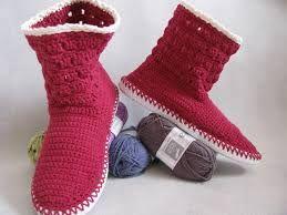 Znalezione obrazy dla zapytania buty na szydelku dla doroslych
