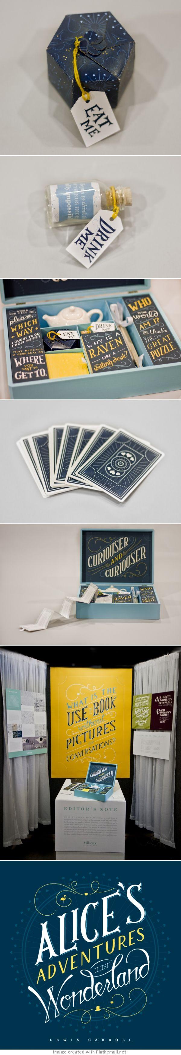 Alice In Wonderland #packaging #branding PD
