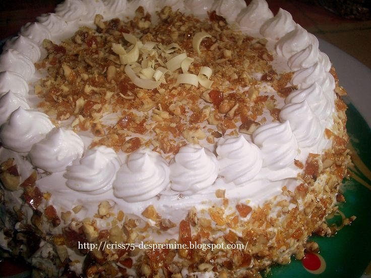 Reteta Tort cu crema de zahar ars si crantz - Torturi