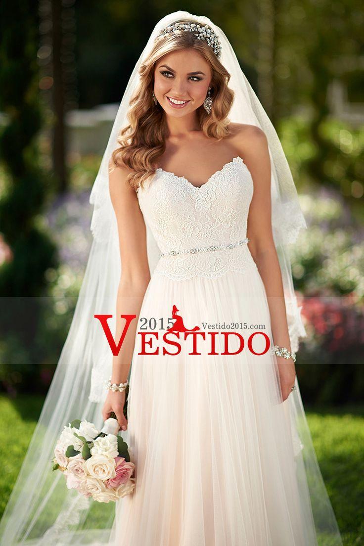 2015 vestidos de boda de la corte del amor Tulle de tren con apliques
