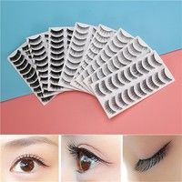 Wish | 80 Pairs Natural Fake Eyelashes 10-Style Thick Long Eye Lashes for Women Lady Teenager Girls