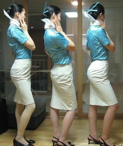 Each defeated and demoralised hijacker had his hands securely tied behind his back by a Korean Air Stewardess after they realised the courageous female crew would not be intimidated by them, and agreed to surrender.