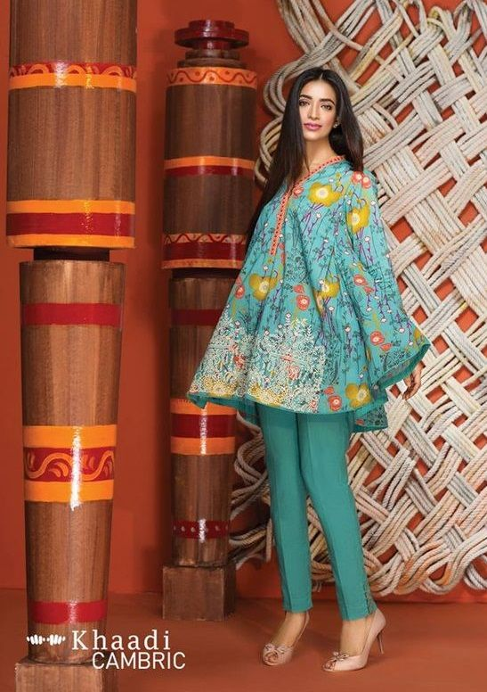 Casual Lawn Peplum Frocks Pakistani Dresses Casual