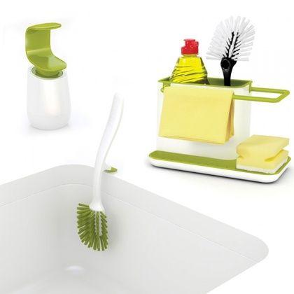 Набор для мытья посуды - органайзер диспенсер щетка Kitchen Sink Set