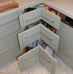 Küche in Vollausstattung - Nutzung der Ecken
