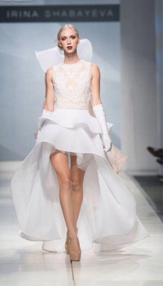 Irina Shabayeva beaded white lace applique two by IRINASHABAYEVA