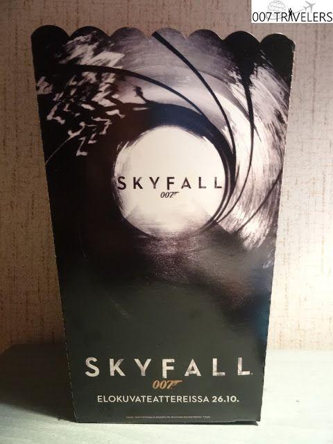 007 TRAVELERS: 007 Item: SKYFALL 007 Popcorn box