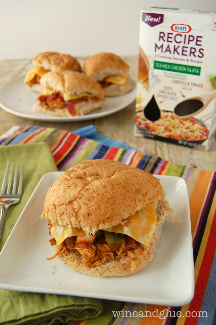 Slow Cooker Tex Mex Pulled Chicken Sammies {The Best Easy Meal} - wine ...