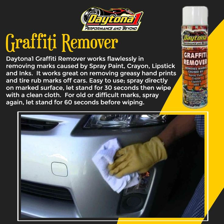 Daytona1 Graffiti Remover works flawlessly in removing