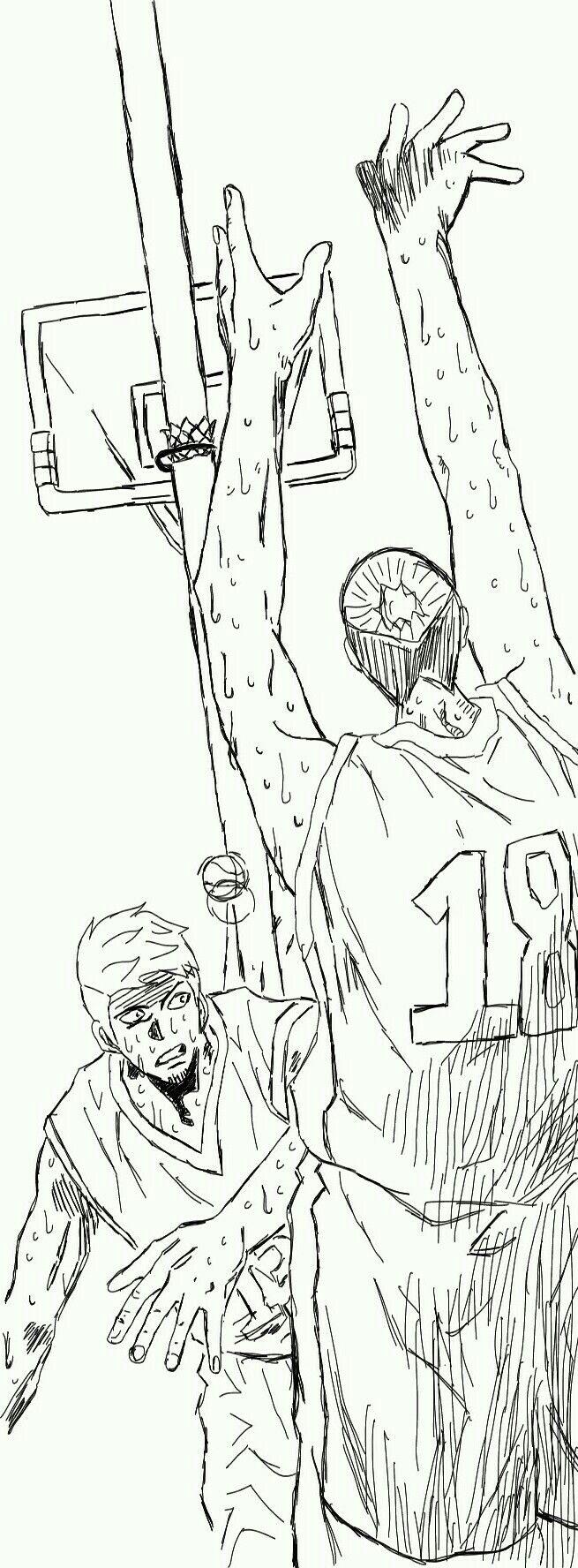 Kuroko no basket oc Takeda Asagi Vs Takeda Sora