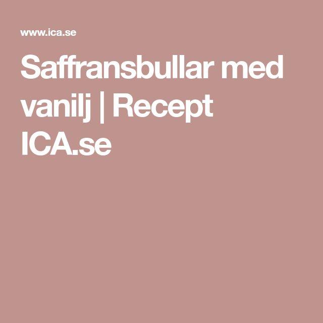Saffransbullar med vanilj | Recept ICA.se