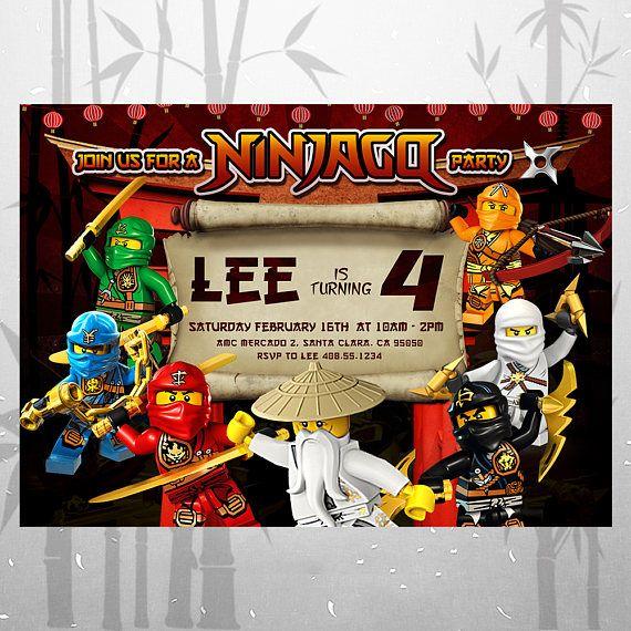 Lego Ninjago Birthday Party Google Search: 17 Best Ideas About Lego Birthday Invitations On Pinterest