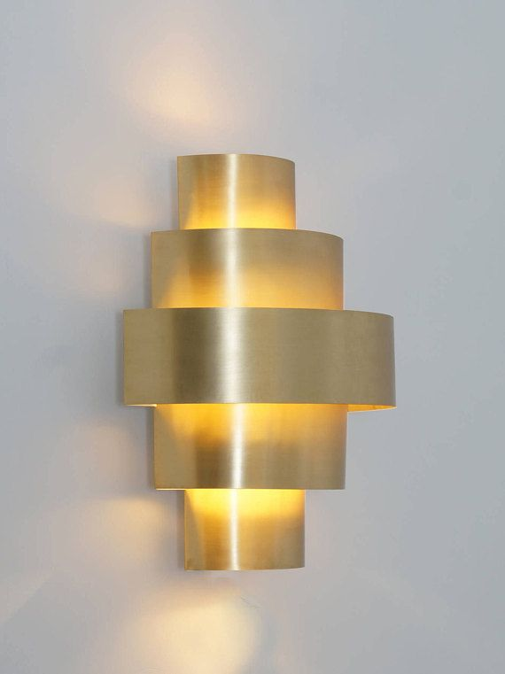 Modern Kelly Wall Sconce Handcrafted Wall Lamp Gold Wall Light Etsy In 2020 Gold Wall Lights Brass Wall Light Sconces