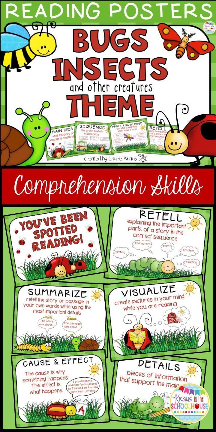 reading comprehension skills posters pdf
