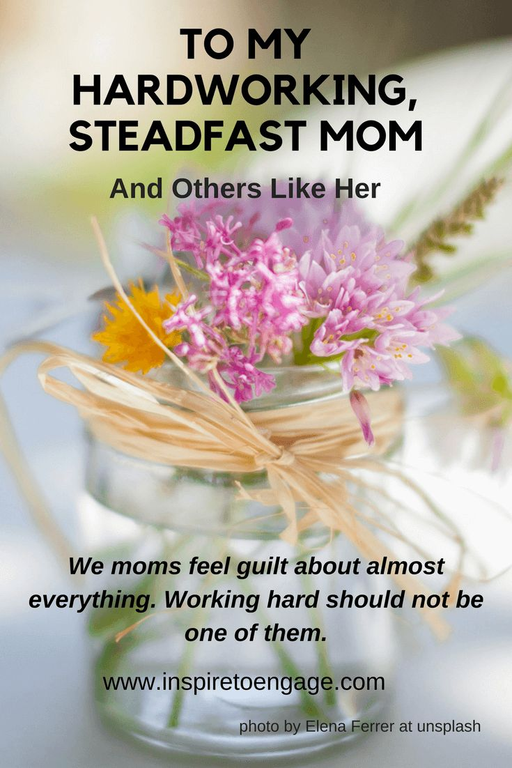 Working hard + goal setting = bad things. Correct? No? Then, why do we moms feel such guilt about our work or our entrepreneurial goals?! My mom set an example of a strong work ethic as I grew up. Boy, I am glad she did!