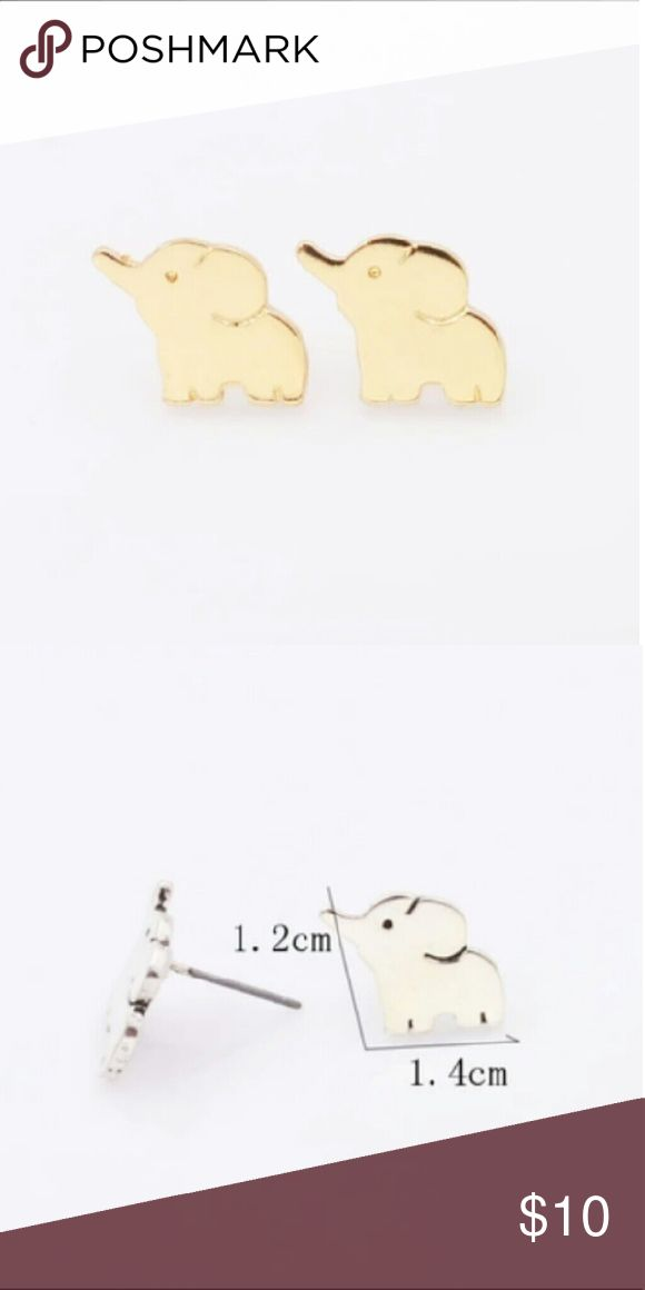 Adorable Elephant Earrings Very cute earrings brand new come in gold color Jewelry Earrings
