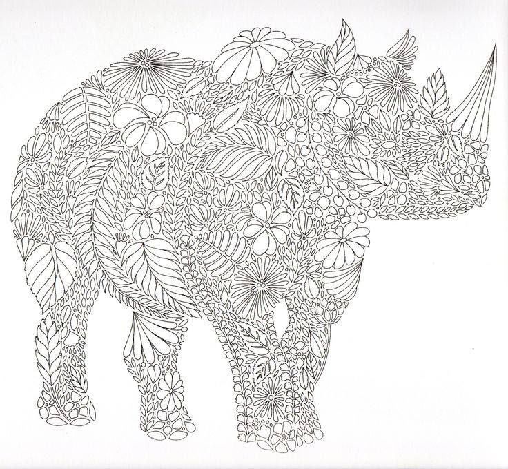 66 best Coloring books and pages images on Pinterest Coloring - fresh realistic rhino coloring pages