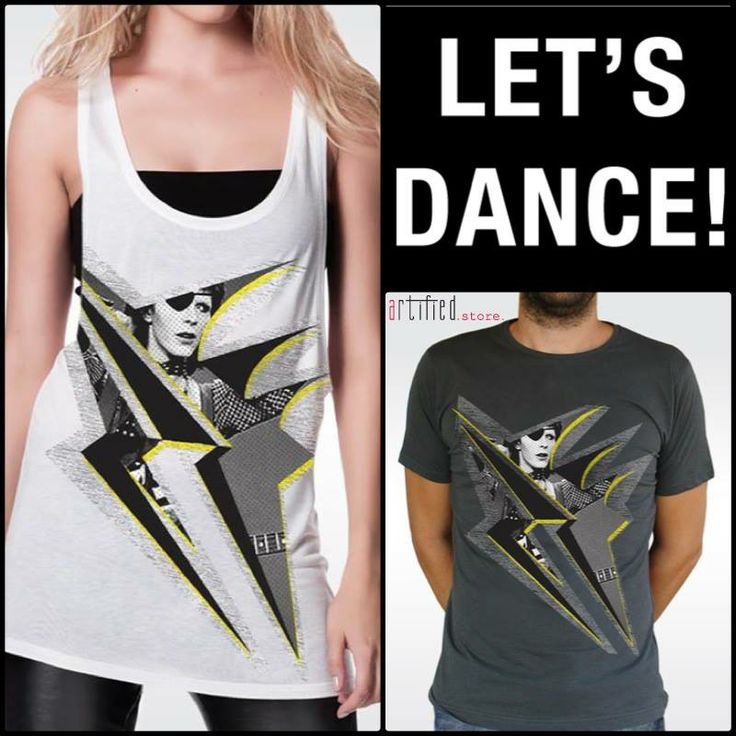 """Weekend is almost here, so LET'S DANCE! Put on your """"artified"""" tees & dance the blues! Order here your own """"Bowie Lightning"""" t-shirt!!!  MEN: http://www.artifiedstore.com/el/ανδρικα/70-m24-bowie-lightning-t-shirt.html WOMEN: http://www.artifiedstore.com/el/γυναικεια/42-w40-bowie-lightning-t-shirt.html"""