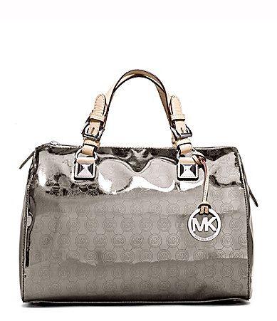 MICAHEL Michael Kors Grayson Mirror Metallic Satchel Bag #Dillards $328
