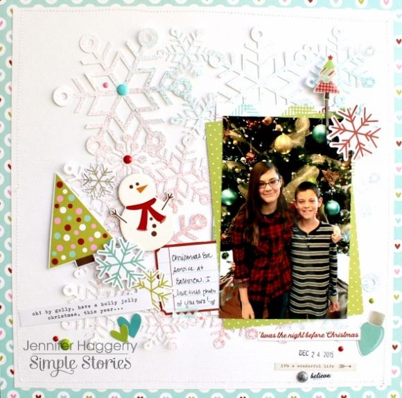 Designed by creative team member Jennifer Haggerty using our Mistletoe Kisses collection