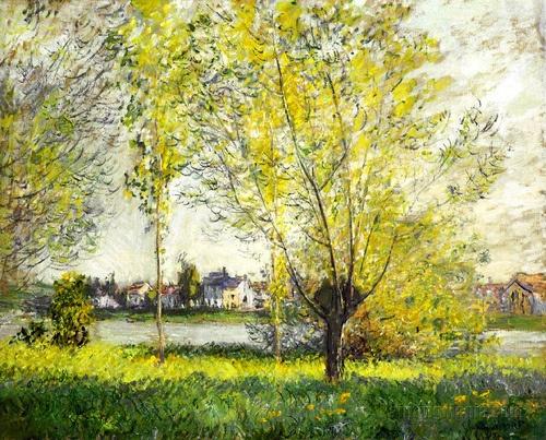 Les Saules-Claude Monet (by BoFransson): Willows, 1880, Monet Paintings, Monet Claude, Art Claude Monet, Fine Art, Claudemonet, Art Monet, Many 1840 1926
