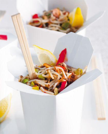 Recept voor woknoedels met gehakt en groenten