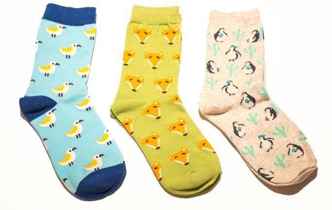 Animal print socks, Socks, Women socks, Bird socks, Fox socks, Penguin socks, Style socks, Girls socks, Animal prints socks, Cotton Socks by sleepcouture on Etsy