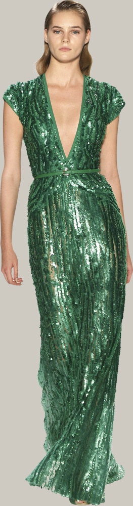 Let me guess, Elie Saab? There was no designer named, but that'd be my wager.