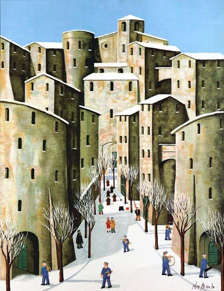 Norberto Proietti 1927-2009....saw this artists painting when I was in Assisi. I really want one of his monks.