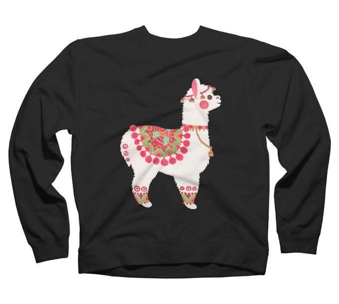 The Alpaca Men's Graphic Crew Sweatshirt - Design By Humans