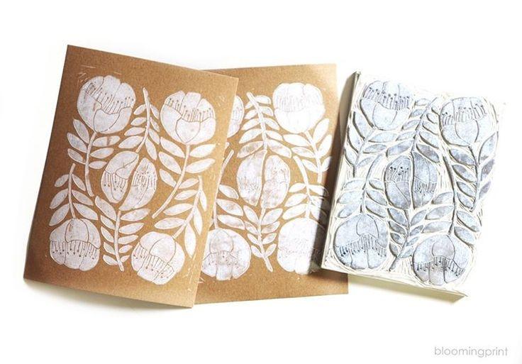 "80 likerklikk, 3 kommentarer – Elise young Uhm (@bloomingprint) på Instagram: ""🐇☁️☁️☁️🌝 #blockprint #blockprinting #printmaking #handcarved #linocut #stamp #stamping #print…"""