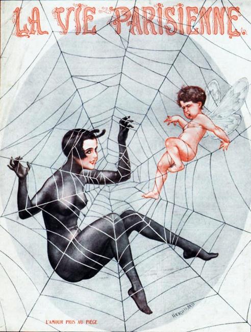 Magazine cover: La Vie Parisienne, Herouard, 1925 <3 Spider Web <3 Valentine