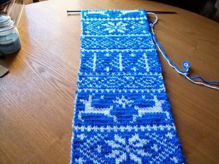 double knit nordic pattern