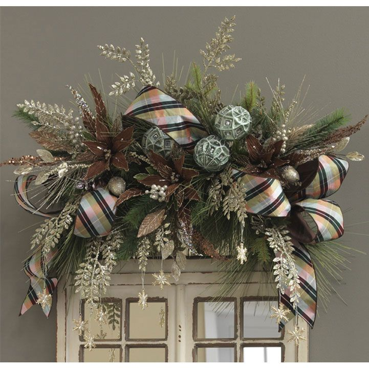 Royal Spruce: lovely way to decorate mirrors, mantles or windows for the holidays