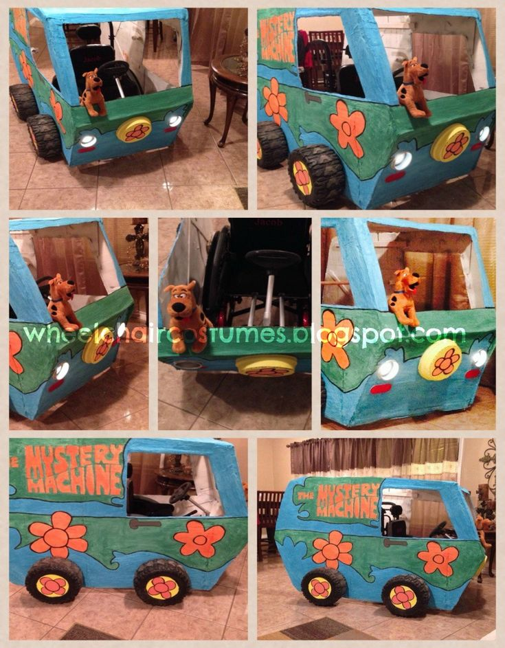 Wheelchair Costumes: The Mystery Machine from Scooby Doo