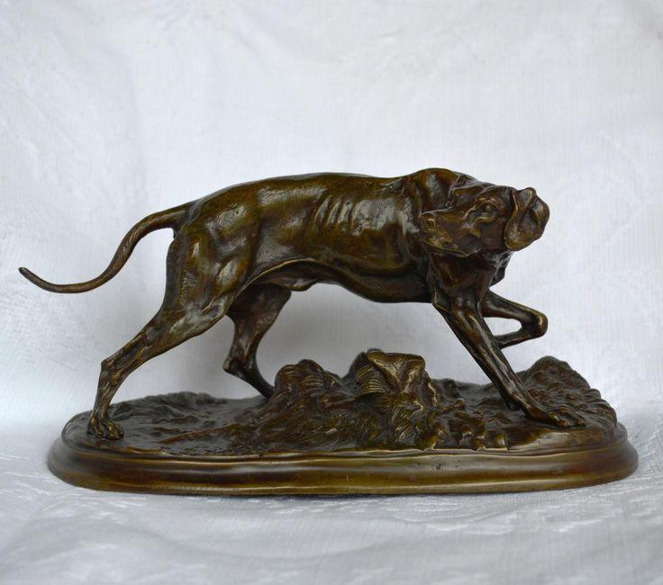 Bronze Chien Braque Par Pierre-jules M�ne , Antiquit�s Alain Giron, Proantic