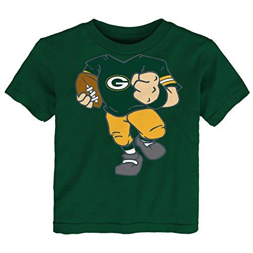 "NFL Green Bay Packers Boys Short sleeve Tee ""Dream Football"", Hunter, 3 Tall:   Toddler Boys will love this shirt. It is an adorable way to get them involved in game day."