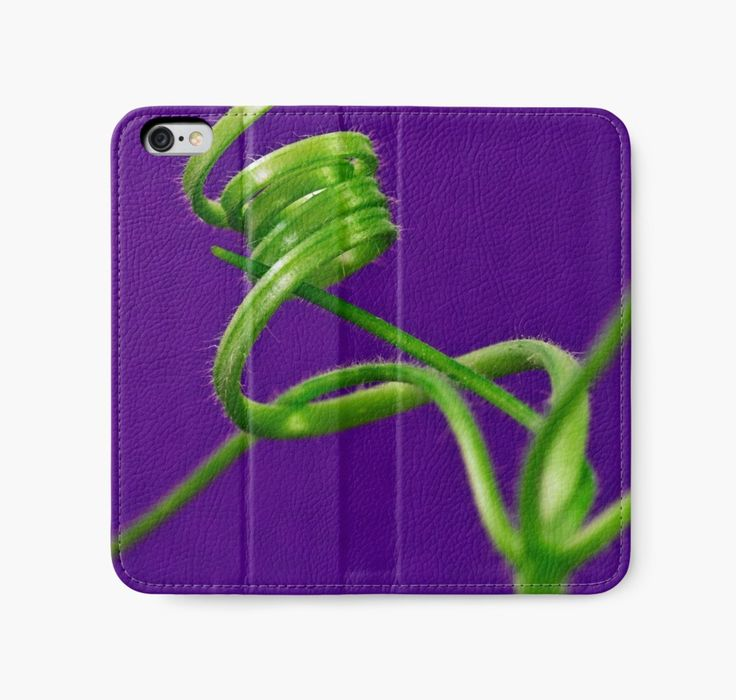 iPhone Wallet.  Squash Tendril Macro by Sandra Foster.  https://www.redbubble.com/people/sandrafoster/works/9340198-squash-tendril-macro?p=iphone-wallet