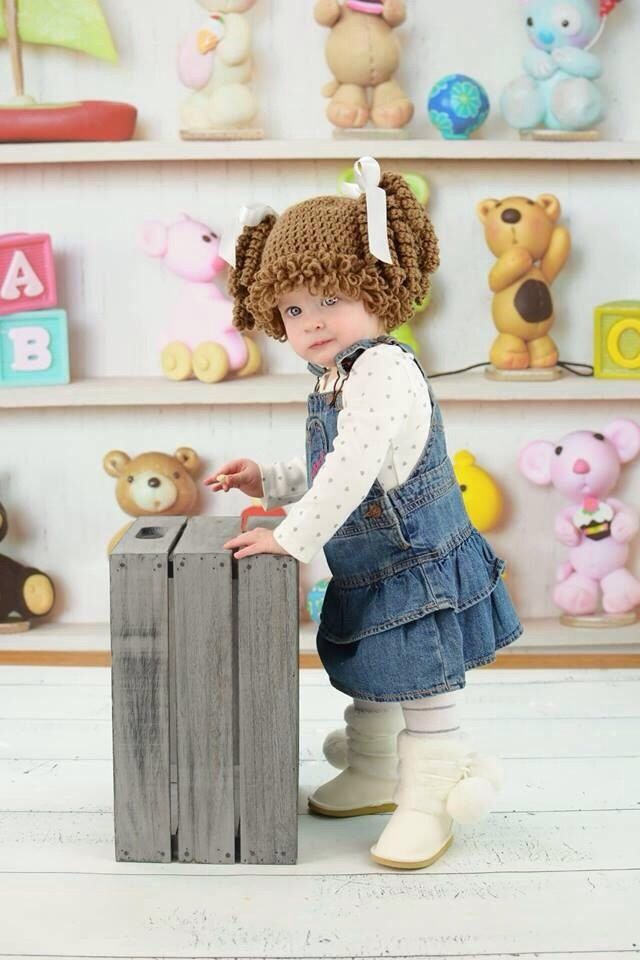 Cabbage Patch Knit Hat With Fringe And Pigtails Pattern : 25+ best ideas about Cabbage patch hat on Pinterest Cabbage patch, Crochet ...