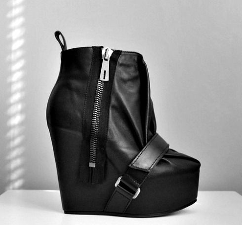Acne black leather boots