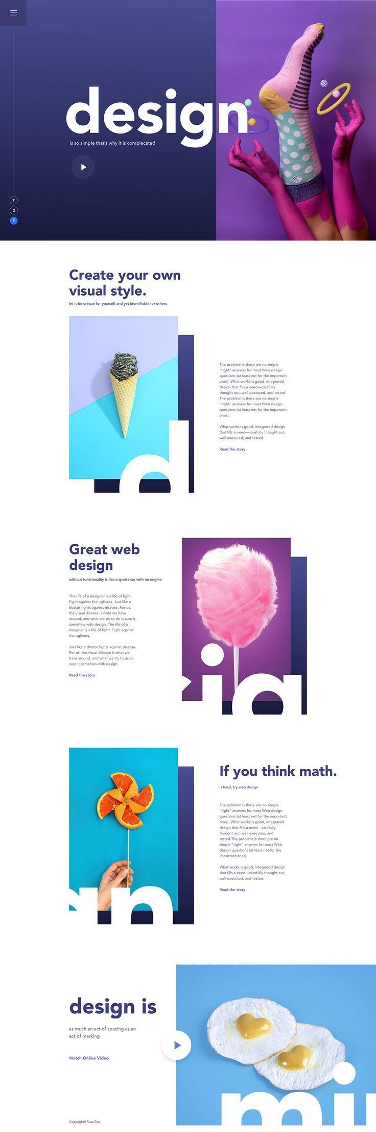 Good design is obvious. Great design is transparent – Experimental Ui design concept by Razz Das.